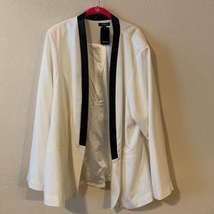 White Plus Sized Blazer